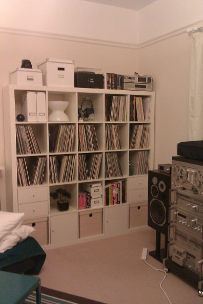Ikea Expedit vinyl record storage solution