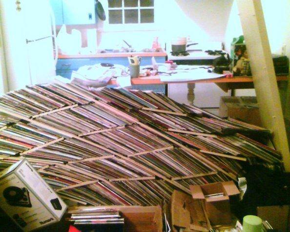 Ikea Expedit vinyl record storage solution