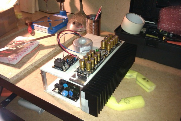 DIY 200 watt solid state monoblock power amplifier