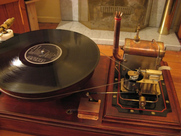 Steampunk Turntable record player