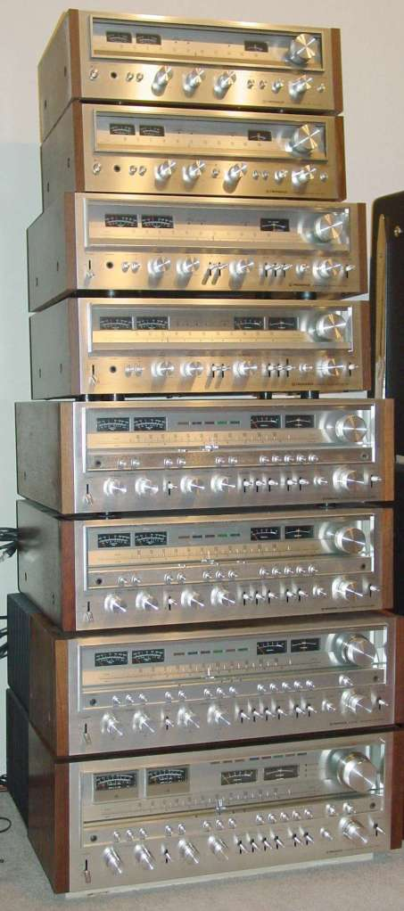 Vintage Pioneer Receiver Serie X50 Collection