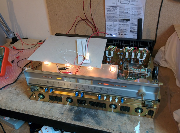 Pioneer SX-850 Receiver LED lights replacement