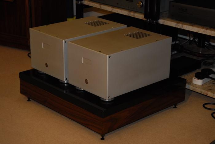 granite and walnut Isolation platform base super heavy 47kg!