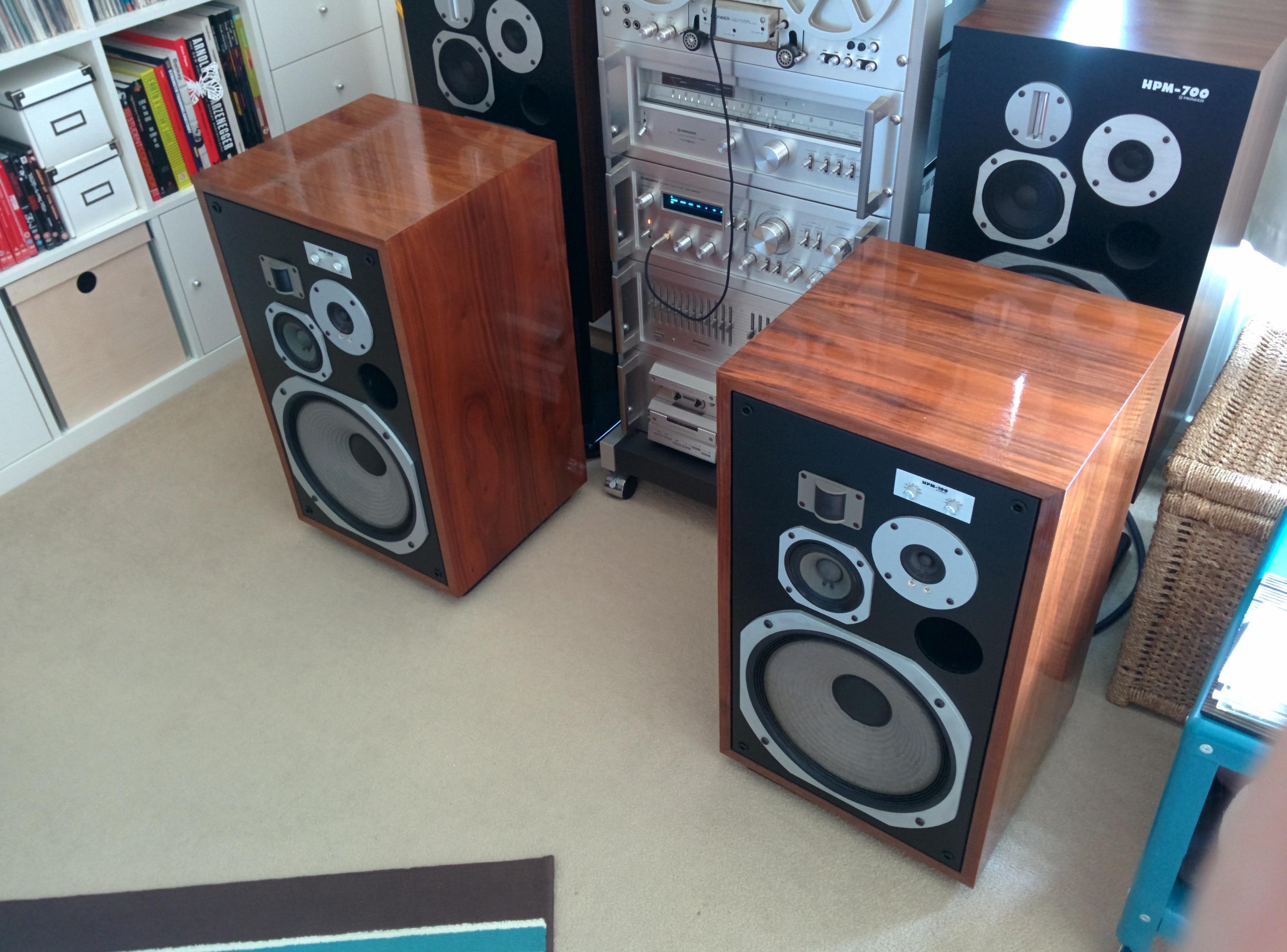 pioneer hpm 100 loudspeakers restoration audiophile vintage