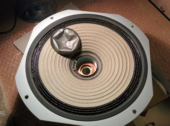 speaker dust cup repair